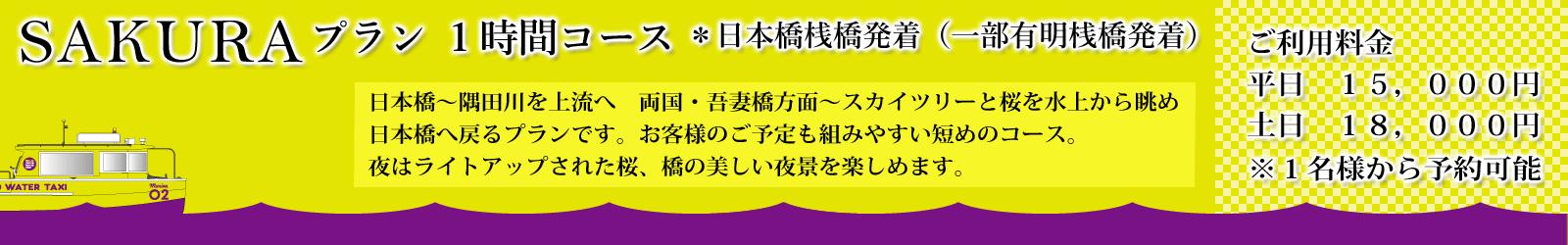 「SAKURAプラン」 1時間コース